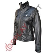 Ladies New Style Black Leather Jacket / Stylish Women Biker Jacket