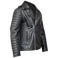 Men's Brando Style Sheep Leather Jacket / Stylish Brando Biker Jacket