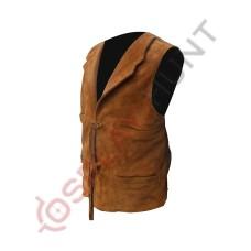 Men's Stylish Tan Western Suede Leather Vest