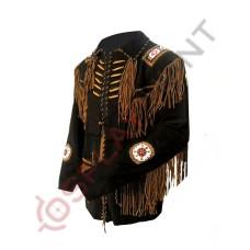 Vintage Fringed South Western Suede Leather Jacket