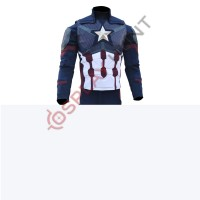 Captain America Steve Rogers Avengers 4 Endgame Costume Jacket and Vest