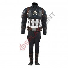 Captain America Steve Rogers Avengers 4 Endgame Costume Suit ( Screen Printed Lycra)
