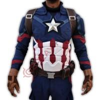 Chris Evan Captain America Civil war Steve Rogers Full Costume suit ( Textured Stretch Fabric )