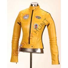 Kill Bill Uma Thurman Movie Costume Jacket / Kill Bill Volume 1 Leather Jacket