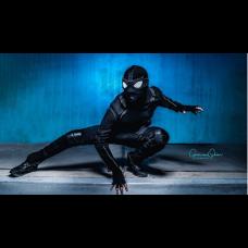 Spider Man Far From Home Stealth Suit / Noir Black Spiderman Superhero costume
