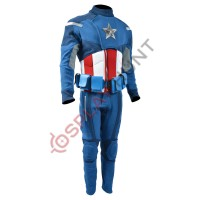 The Avengers : Captain America Costume Suit  (Textured Stretch Fabric ) with Accessories