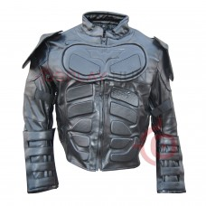 Batman The Dark Knight Rises Motorcycle Leather Jacket / Batman Christian Bale jacket