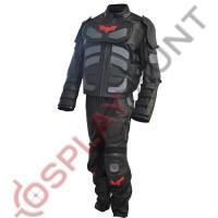 Batman The Dark Knight Rises Motorcycle Leather Suit Red Logo / Batman v Bane Motorbike Suit