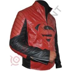 Clark Kent Superman Smallville Red Leather Jacket / Superman Man of Steel Leather Jacket