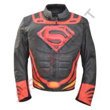Superman Man of Steel 2 Jacket / Batman Vs Superman Costume /Motorbike Leather Jacket  in Black