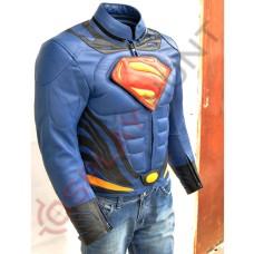 Superman Man of Steel 2 Jacket / Batman Vs Superman Costume /Motorbike Leather Jacket