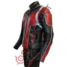 Scott Lang Ant-Man Movie Leather Wax Jacket / Ant-Man :Heros Don't Get Any Bigger
