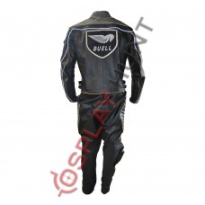 Men Buell Motorcycle Leather Suit / Buell Moto Leather Suit With CE Armour Padding