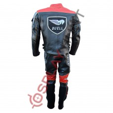 Men Buell Motorcycle Leather Suit Red / Buell Moto Leather Suit With CE Armour Padding