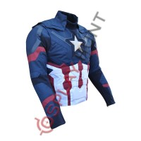 Captain America Civil war Steve Rogers Costume Jacket United We Stand/Divided We Fall