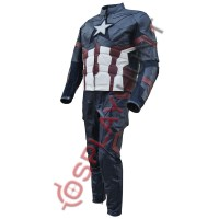 Captain America Civil war Steve Rogers Full Costume Leather suit United We Stand/Divided We Fall