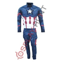 Captain America Civil war Steve Rogers Full Costume suit United We Stand/Divided We Fall