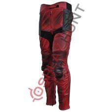 Ryan Reynolds DeadPool 2 Movie Motorcycle Leather Trouser / Dead Pool Costume Pant