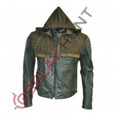 Green Arrow Stephen Amell Leather Jacket / Arrow Oliver Queen Leather Jacket Hoodie