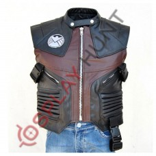 Avengers Jeremy Renner Hawkeye Leather Vest / Captain America Team