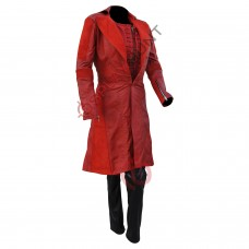 Captain America Civil War Scarlet Witch Elizabeth Olsen Costume Leather Suit