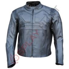 Men Gray Tom Cruise Oblivion Motorcycle Leather Jacket / Jack Harper Oblivion Jacket