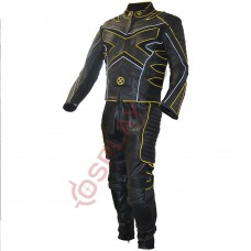 X-Men 3 The Last Stand Motorcycle Leather Suit / X-Men 3 Wolverine Suit Yellow